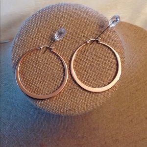 Origami Owl hoop earrings